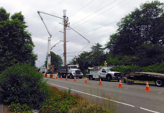 Utility Pole Install